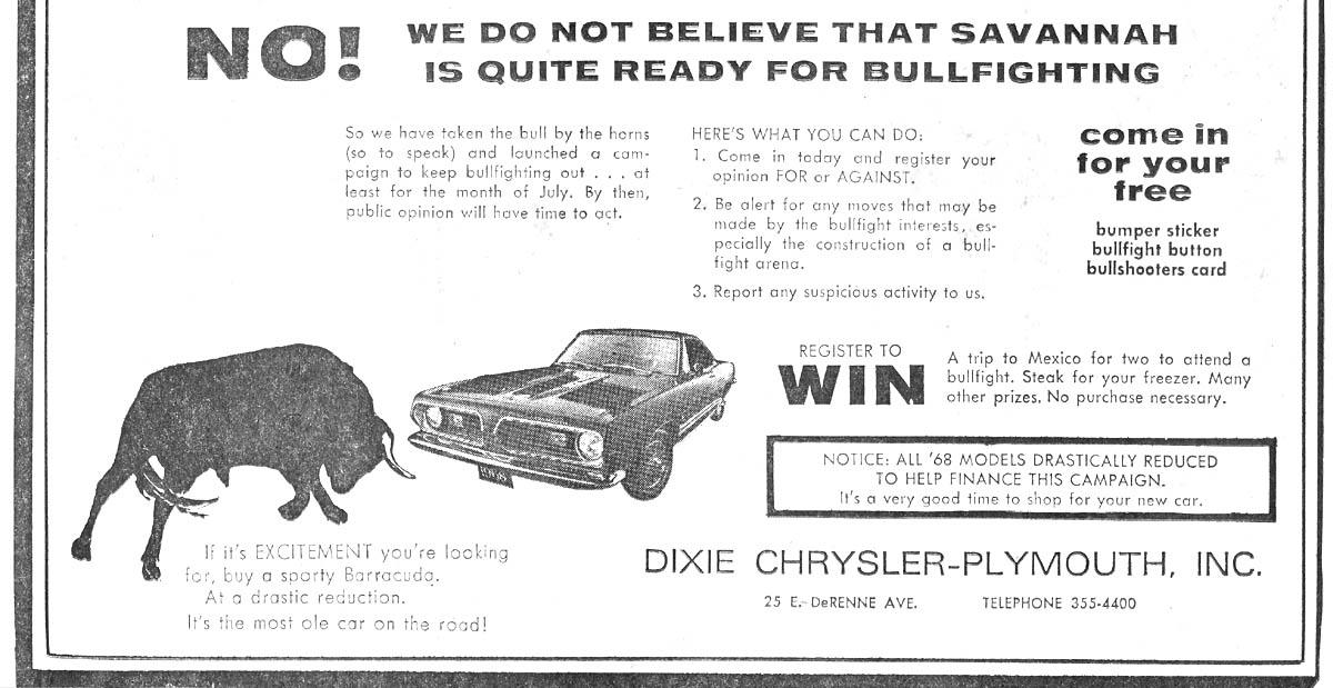 Fischers in the news for Dixie motors savannah ga