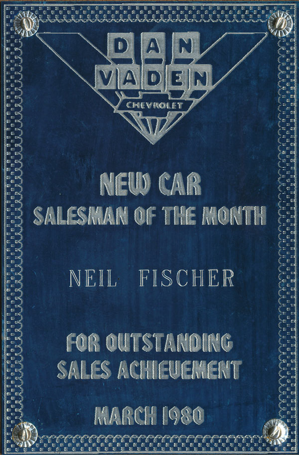 salesman of the month award